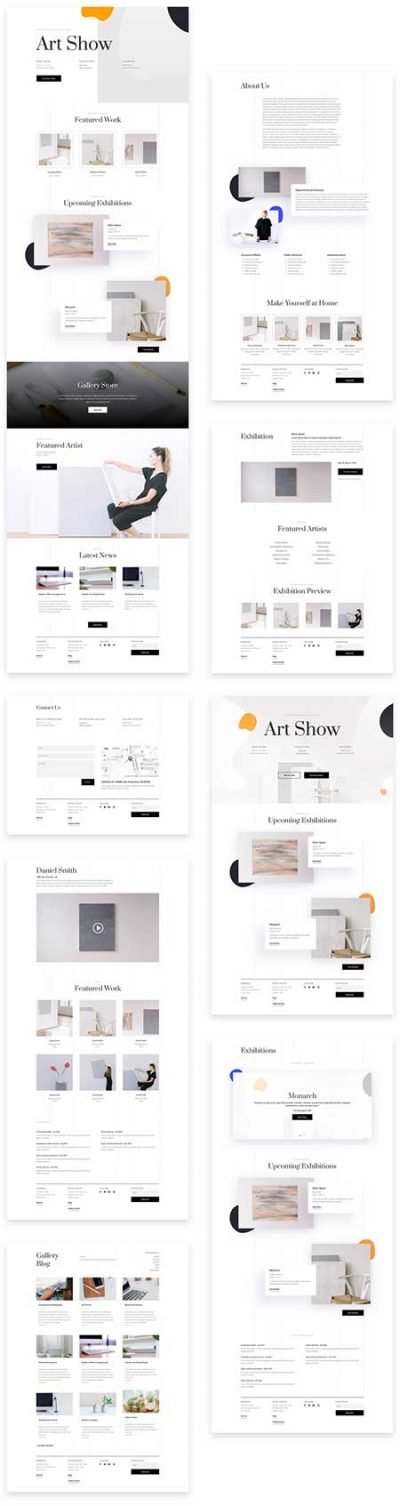 art gallery site template