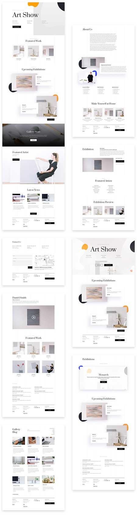 art gallery site template