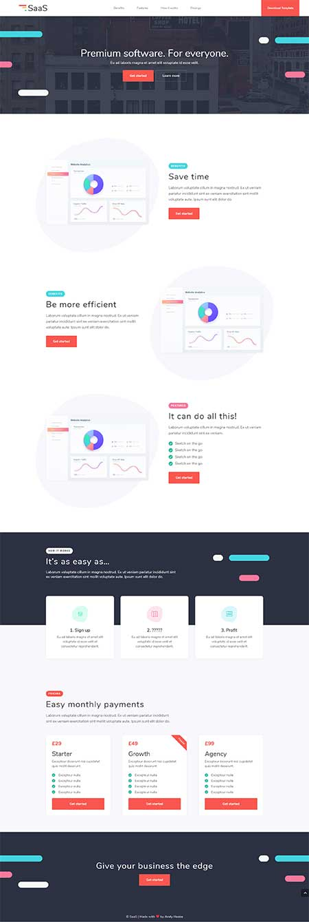 divi SaaS page template