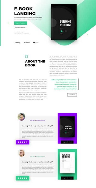 divi book review template