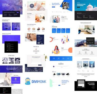 Divi monk layouts June 2019