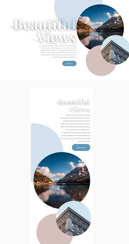 divi text shadow layout