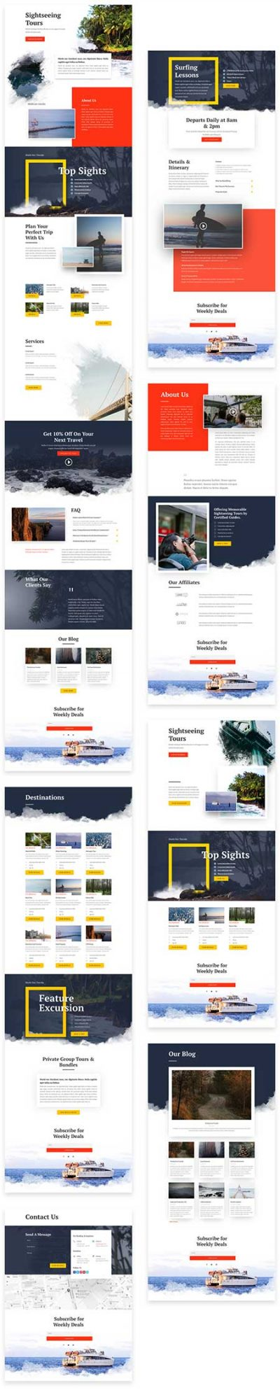 Divi tours template