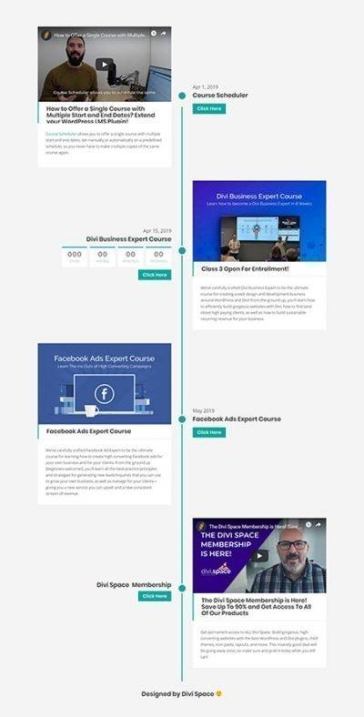 divi vertical timeline layout