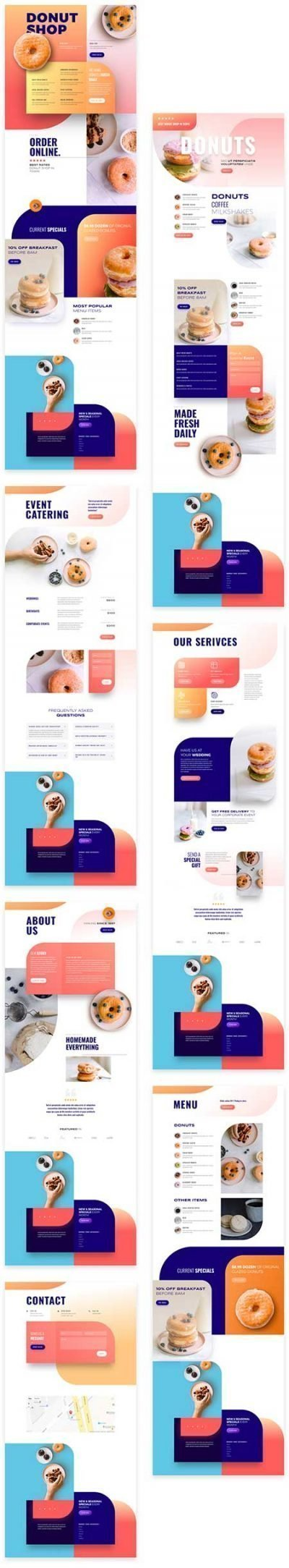 Divi donuts shop layout