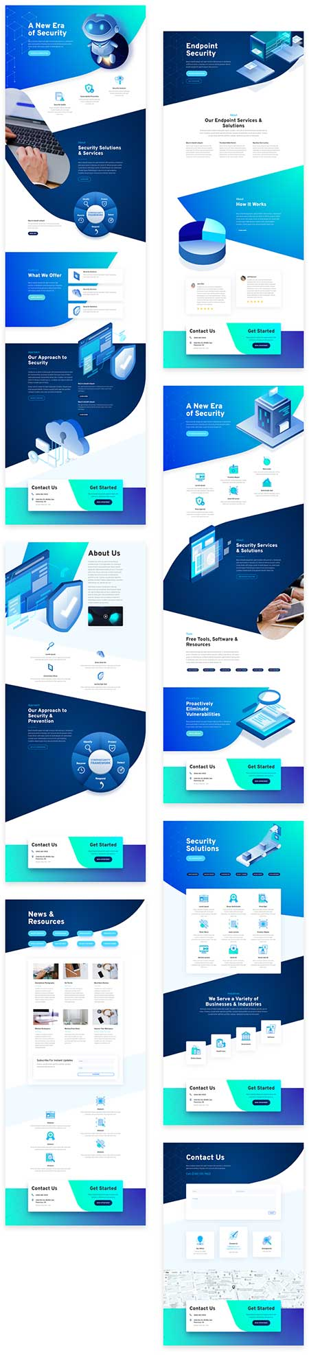 cyber-security layout for Divi