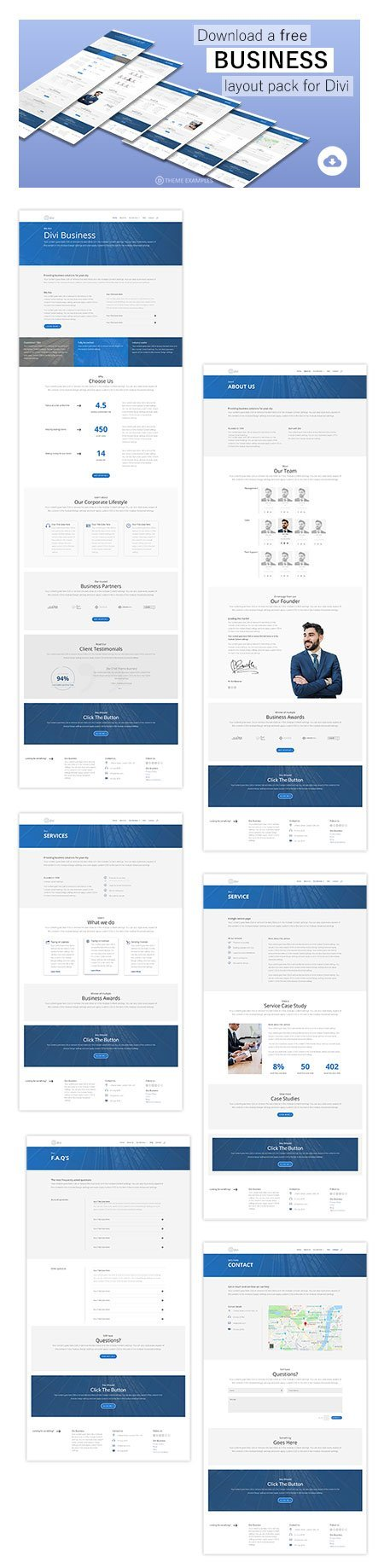 divi business layout pack