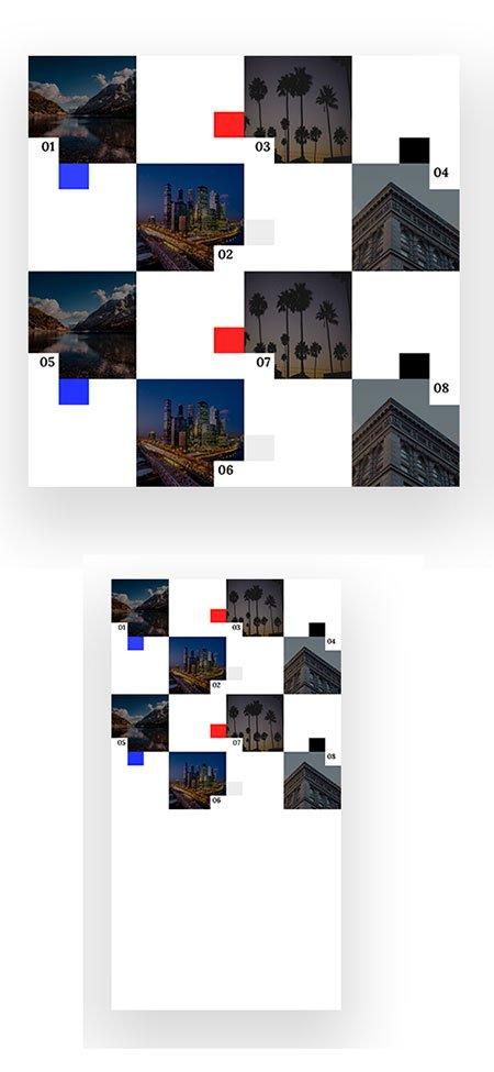 divi image grid hover layout