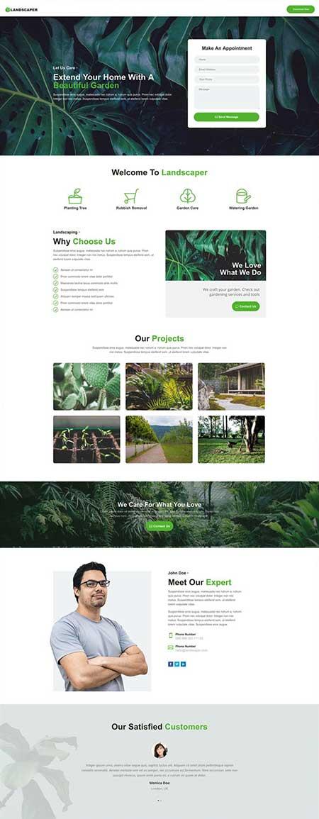 divi landscaper layout