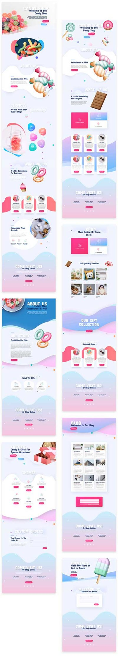 Divi sweet shop store website template