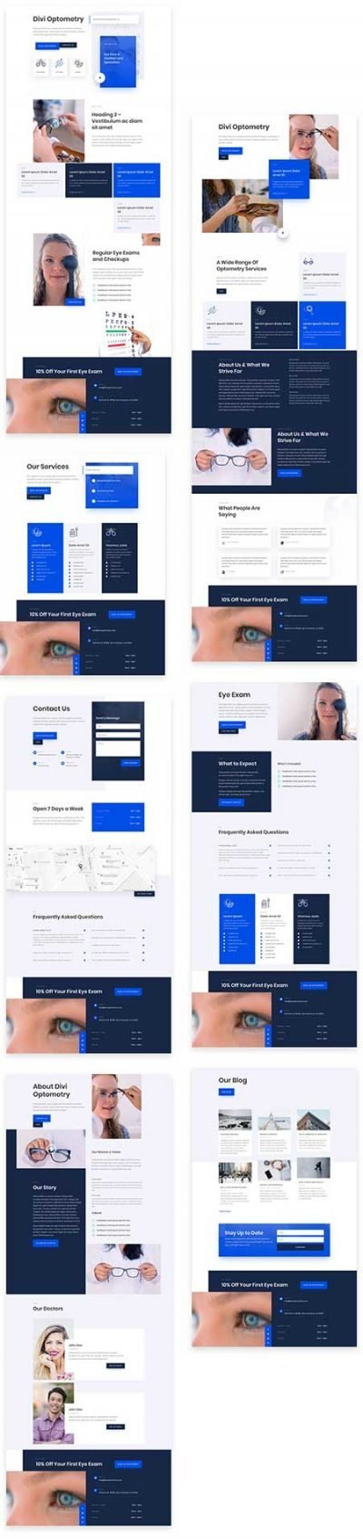 Opticians Divi layout