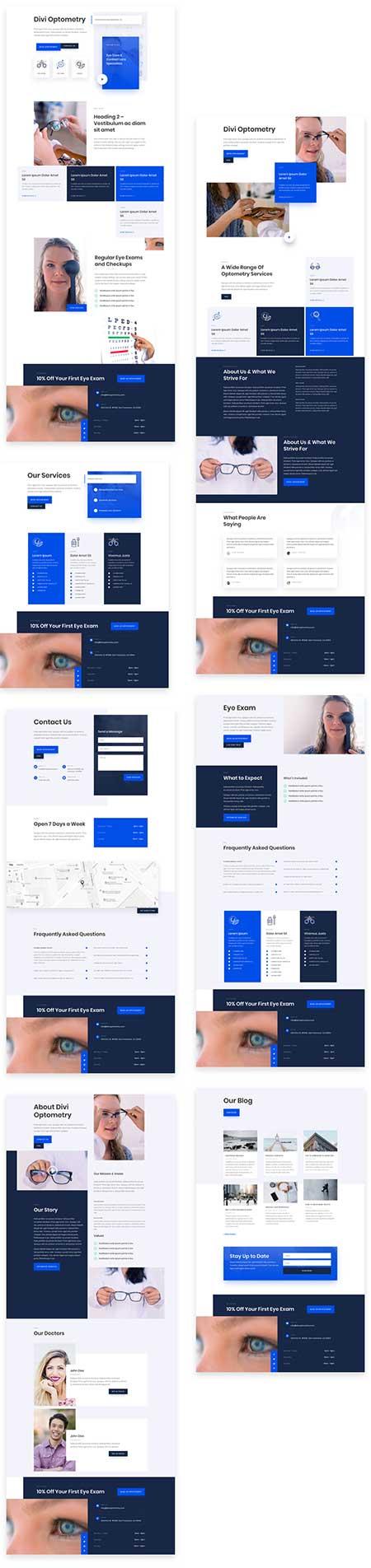 Opticians Divi layout