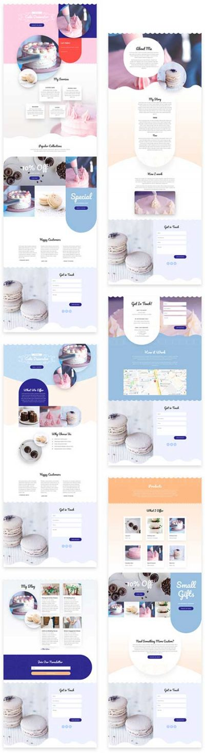 Divi cake website
