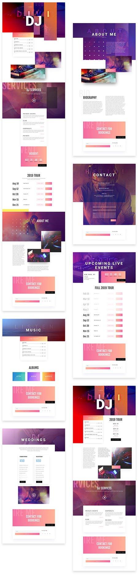 Divi Music DJ website (100% FREE) Divi layout pack
