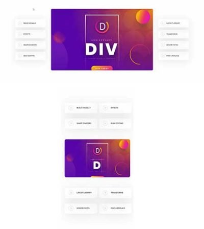 divi video walkthrough layout