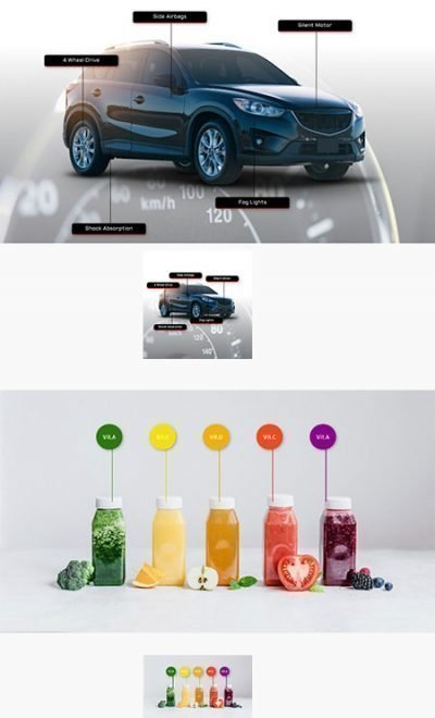 product image markers