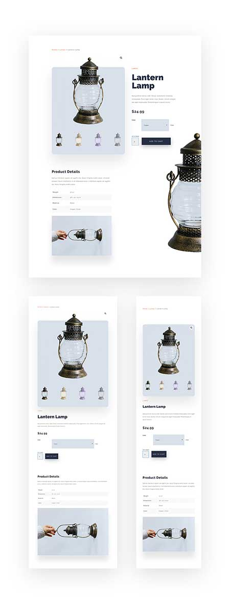 Divi woocommerce layout page