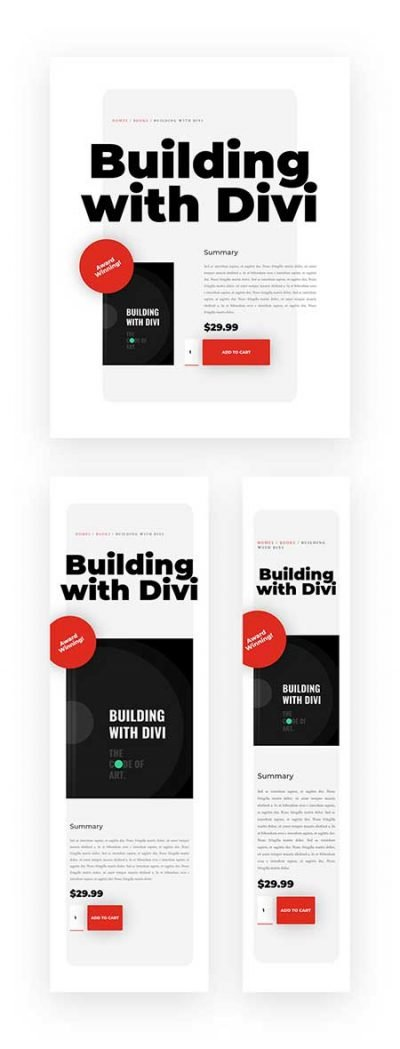 Divi woocommerce modules layout