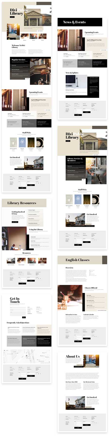 divi library template