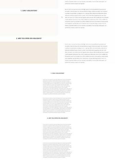 Divi sticky FAQ menu