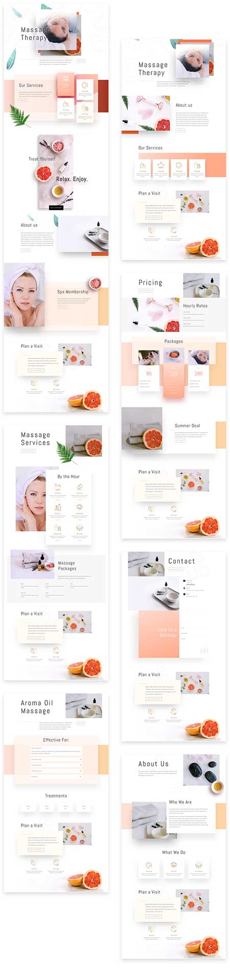 massage therapist site template