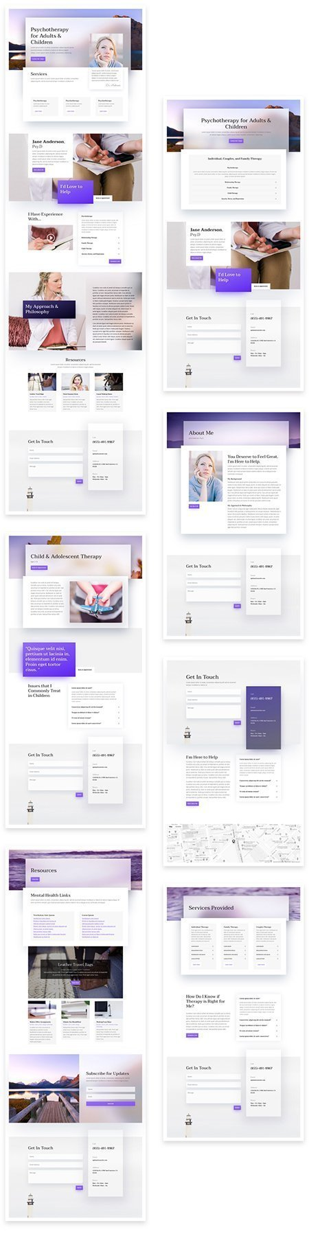 psychologist web template