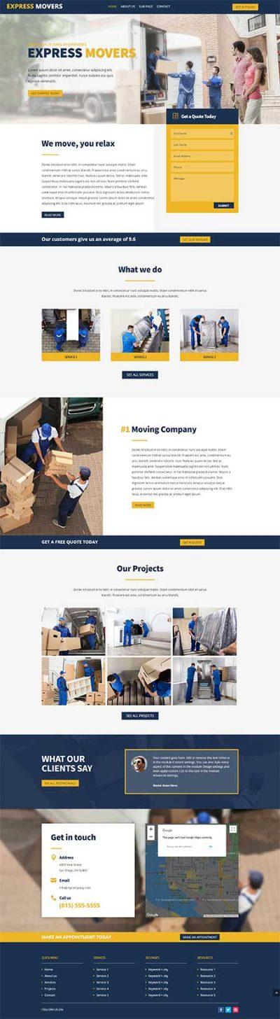 Divi Theme Builder removalslayout