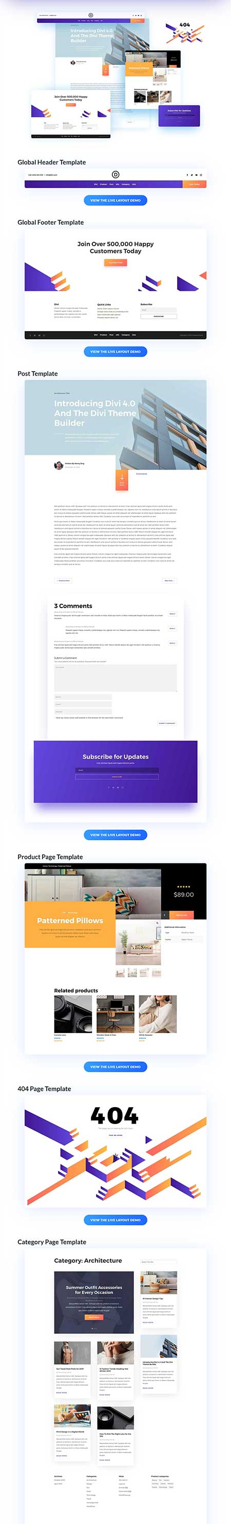 theme builder template pack