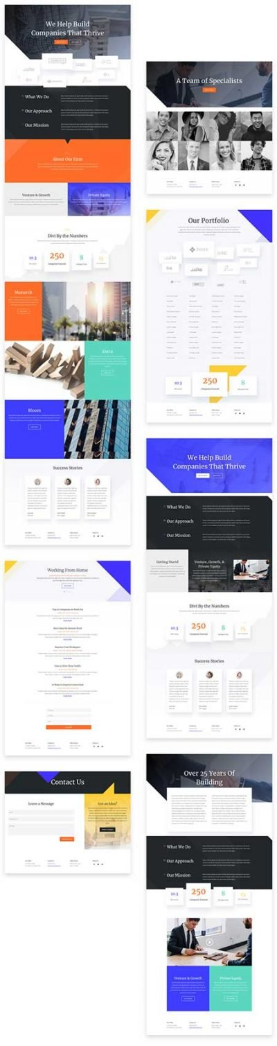 Divi finance layout pack