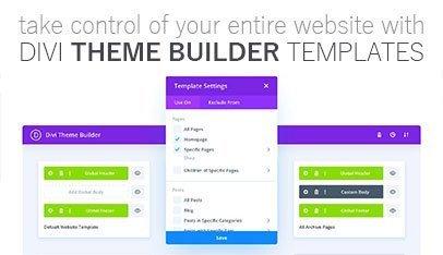 Divi theme Builder templates