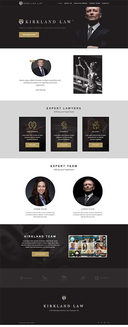 free layout for law firm