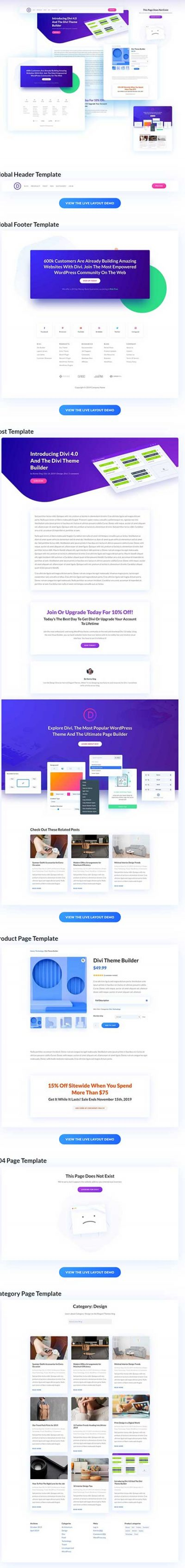 Theme Builder template Elegant Themes