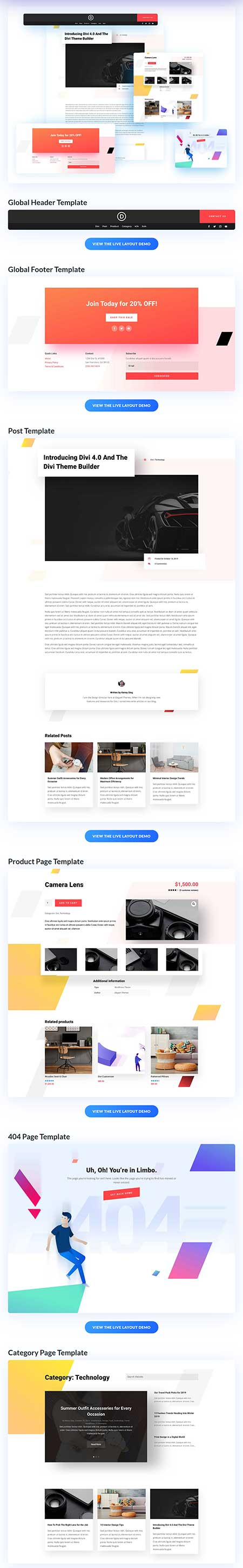 Divi Theme Builder pack 4