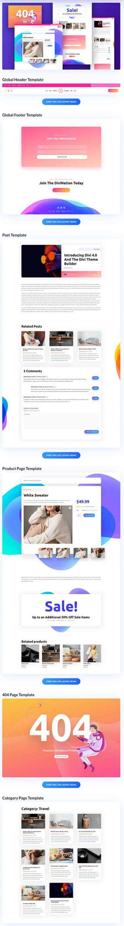divi builder template 6