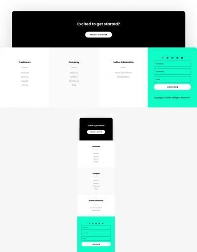 global footer template