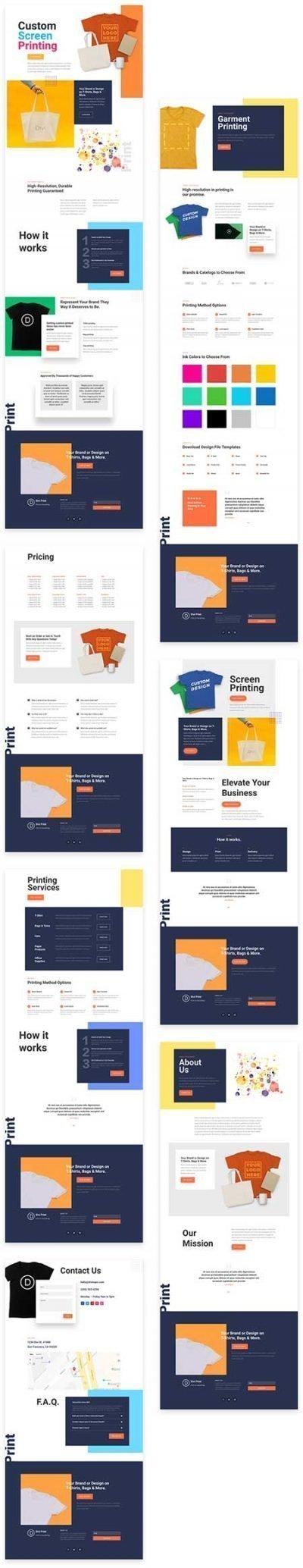 t shirt printing website template