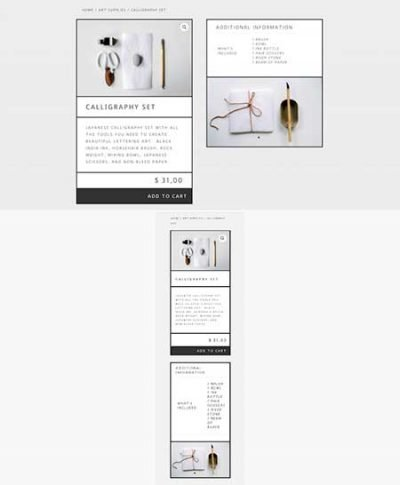 Divi product page layout