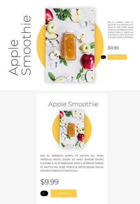 product full width page