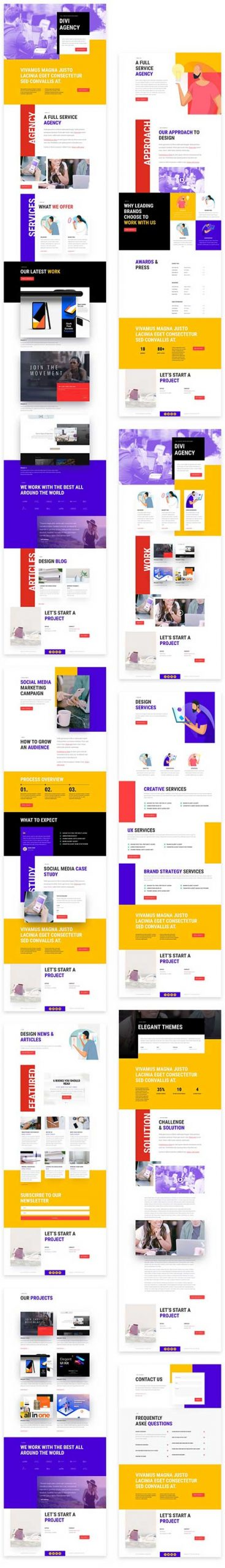 Divi advertising agency template