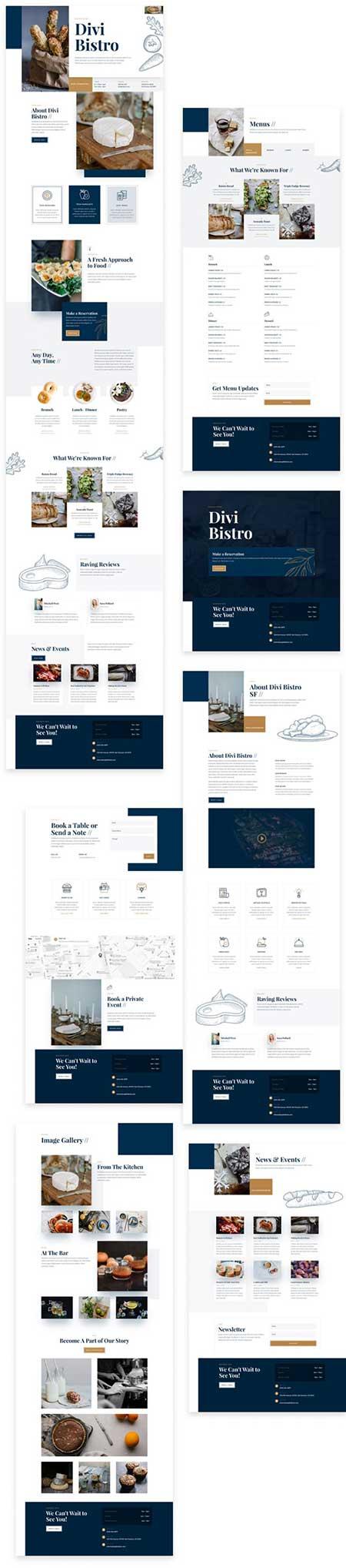 Divi bistro website template