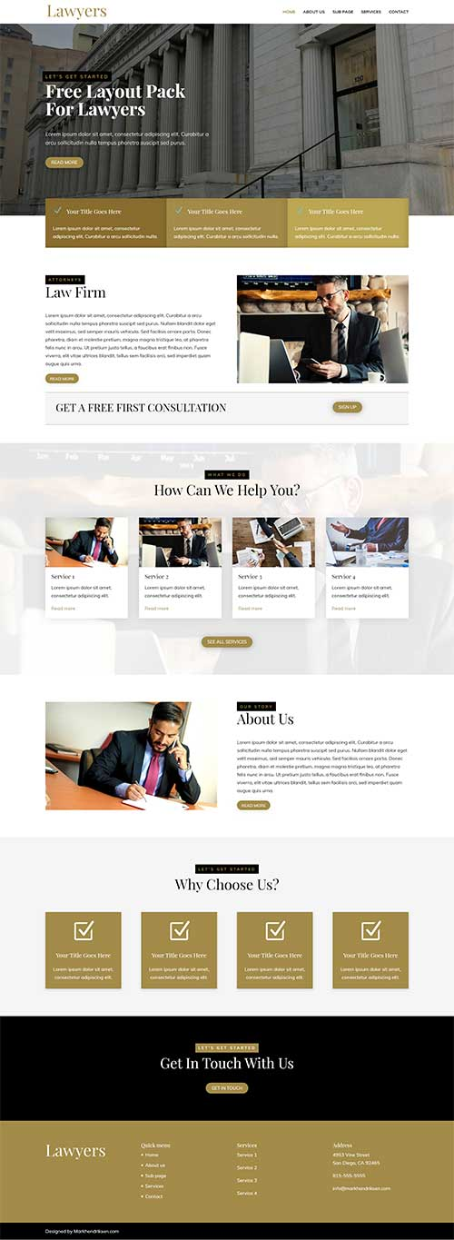 Divi lawyer website layout pack