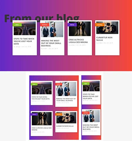 Divi related posts layout