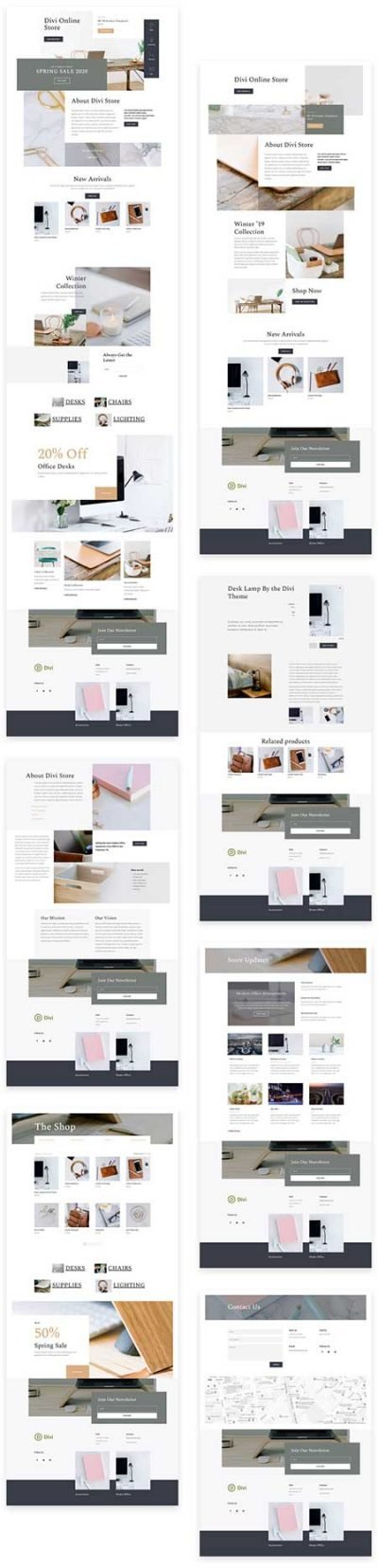 Divi Online Store layout pack