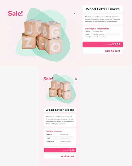 Divi Theme Builder product page template