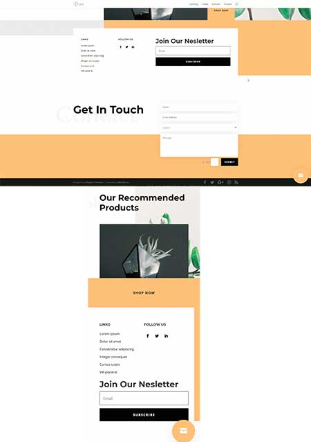 Divi contact form template