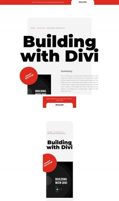Divi coupon code layout