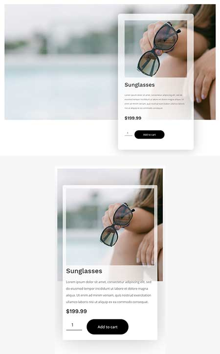 divi woo product image template