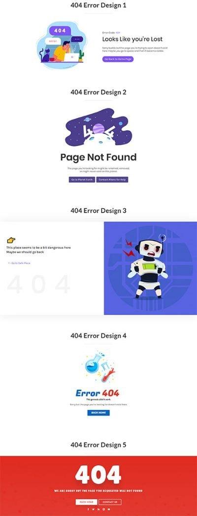Divi 404 page templates
