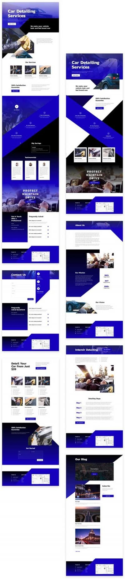 Divi car-wash template