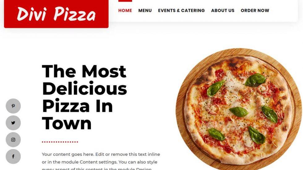 Divi pizza restaurant theme